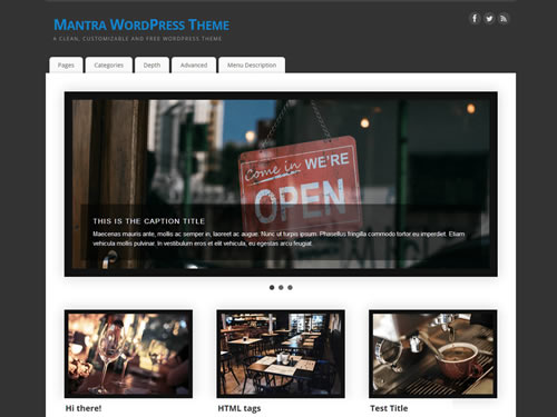 Mantra - A clean, customizable and free WordPress theme