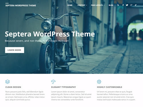 Septera - A free WordPress theme with premium features