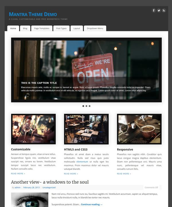 Mantra WordPress Theme