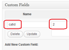 Category ID custom field