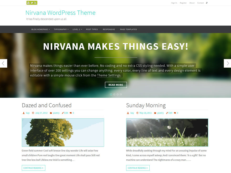 Nirvana WordPress Theme Download