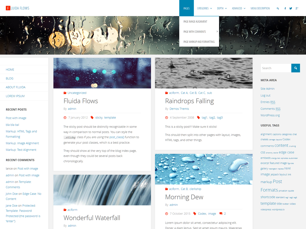 Fluida - our new WordPress theme is ready for download