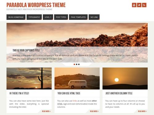 Parabola 2.0 WordPress Theme
