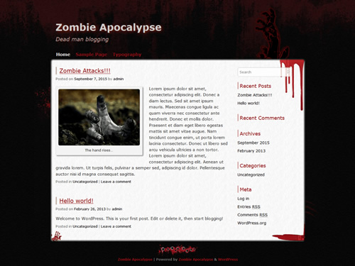 Zombie Apocalypse WordPress Theme