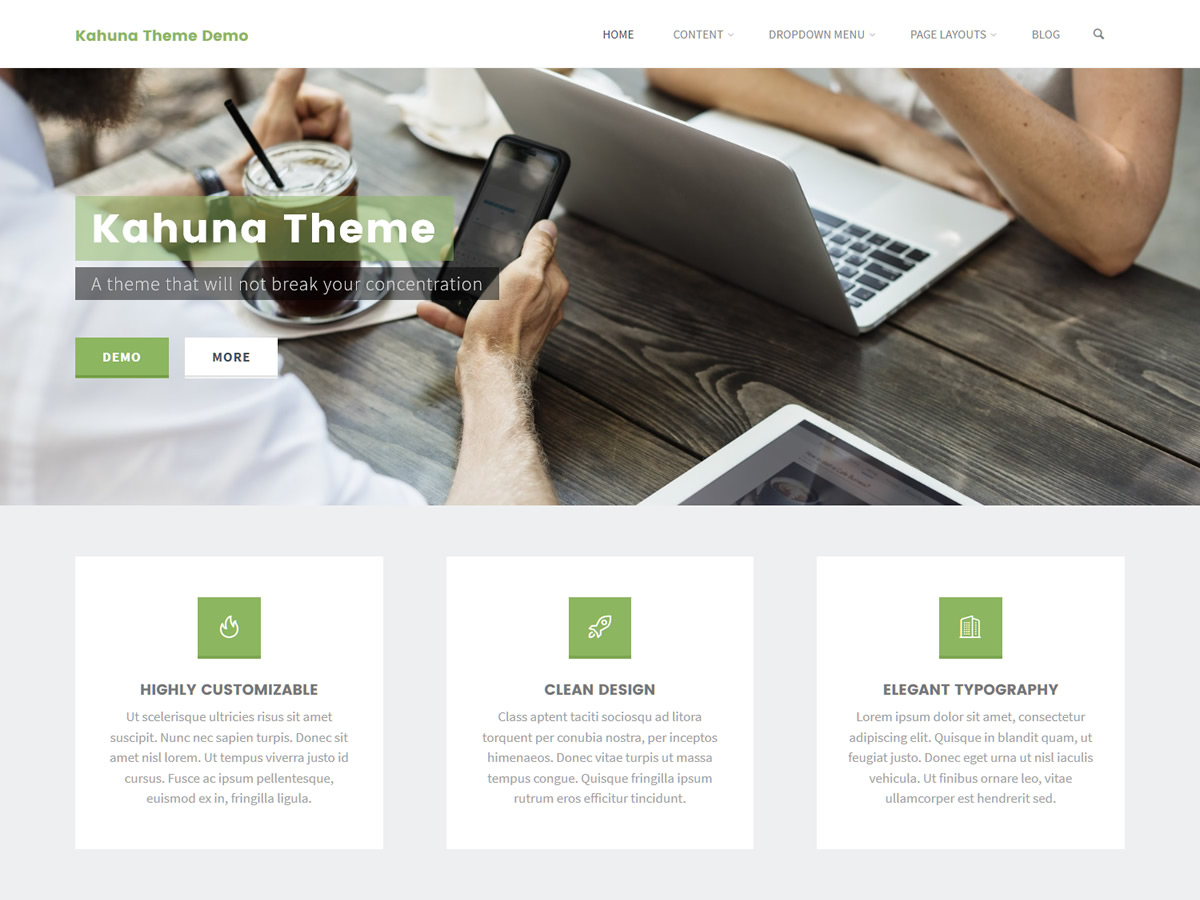 Kahuna WordPress Theme