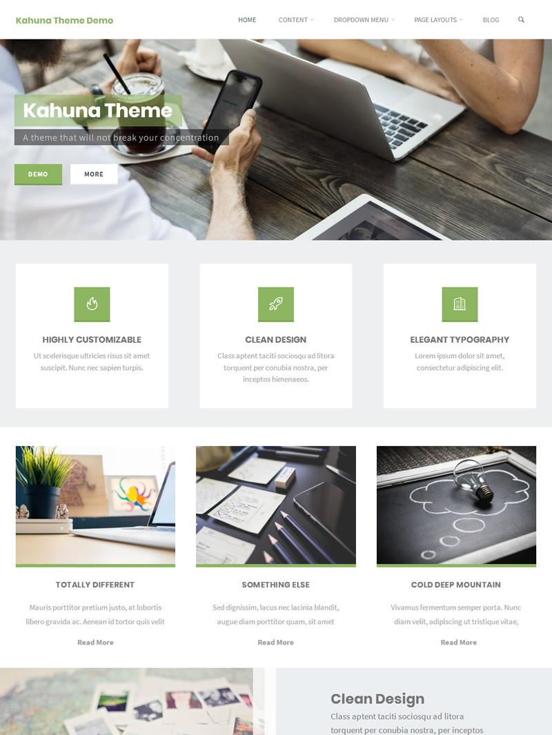 Kahuna Landing Page