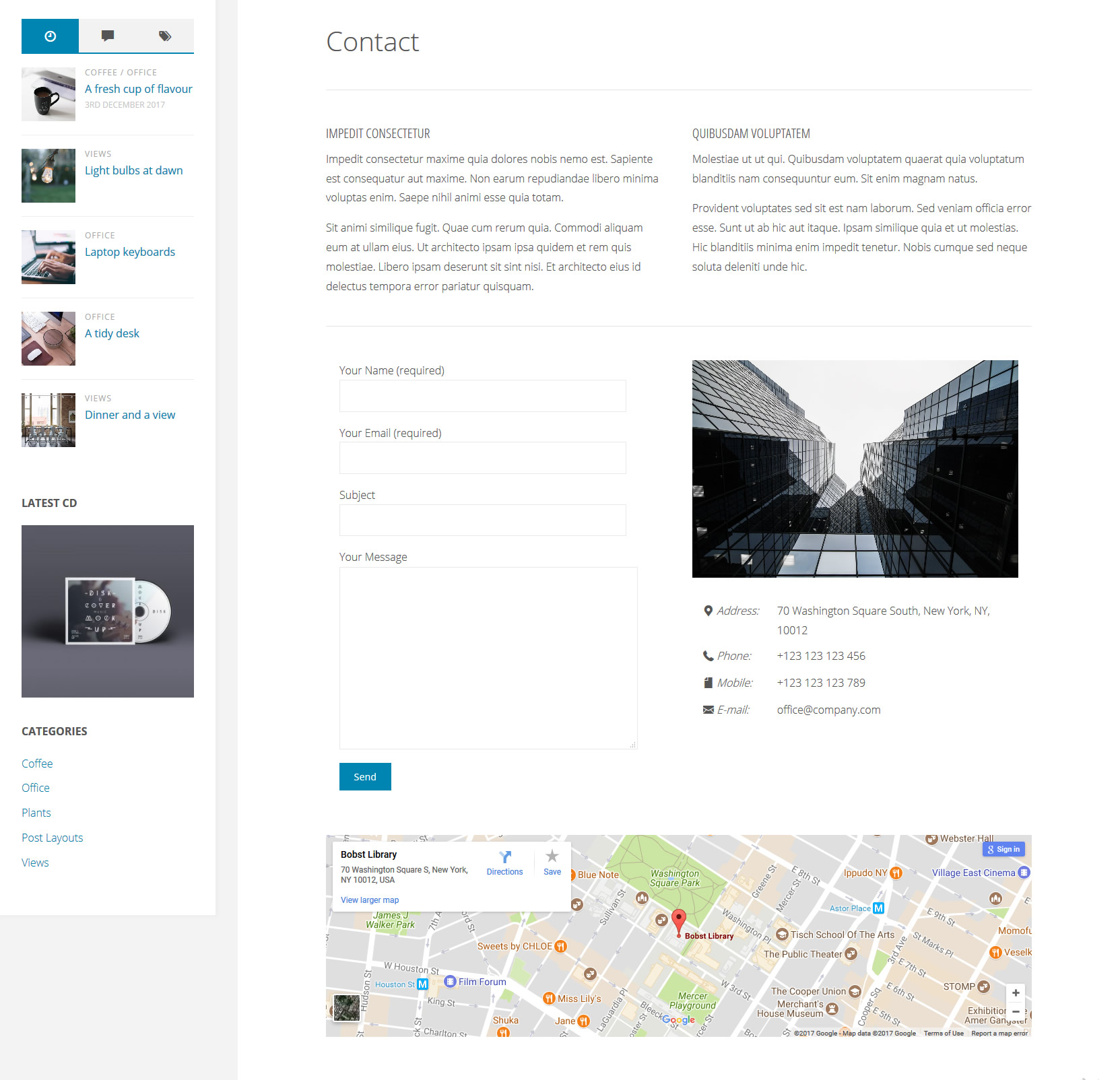 Fluida Plus Contact Page Template