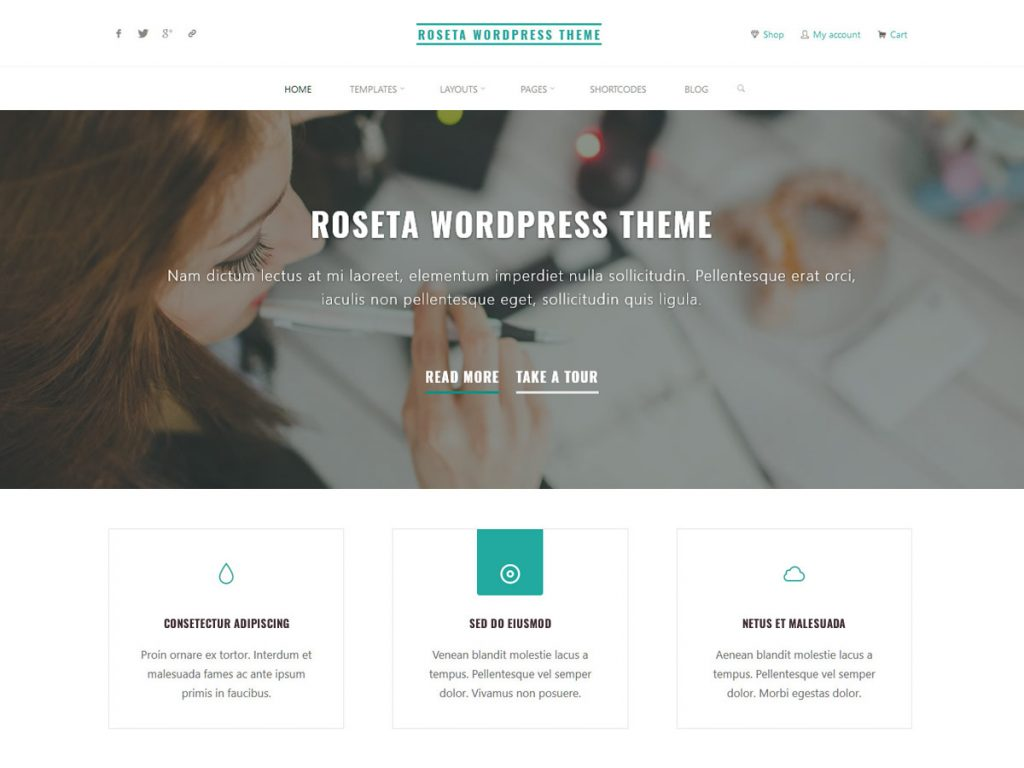 Roseta WordPress Theme