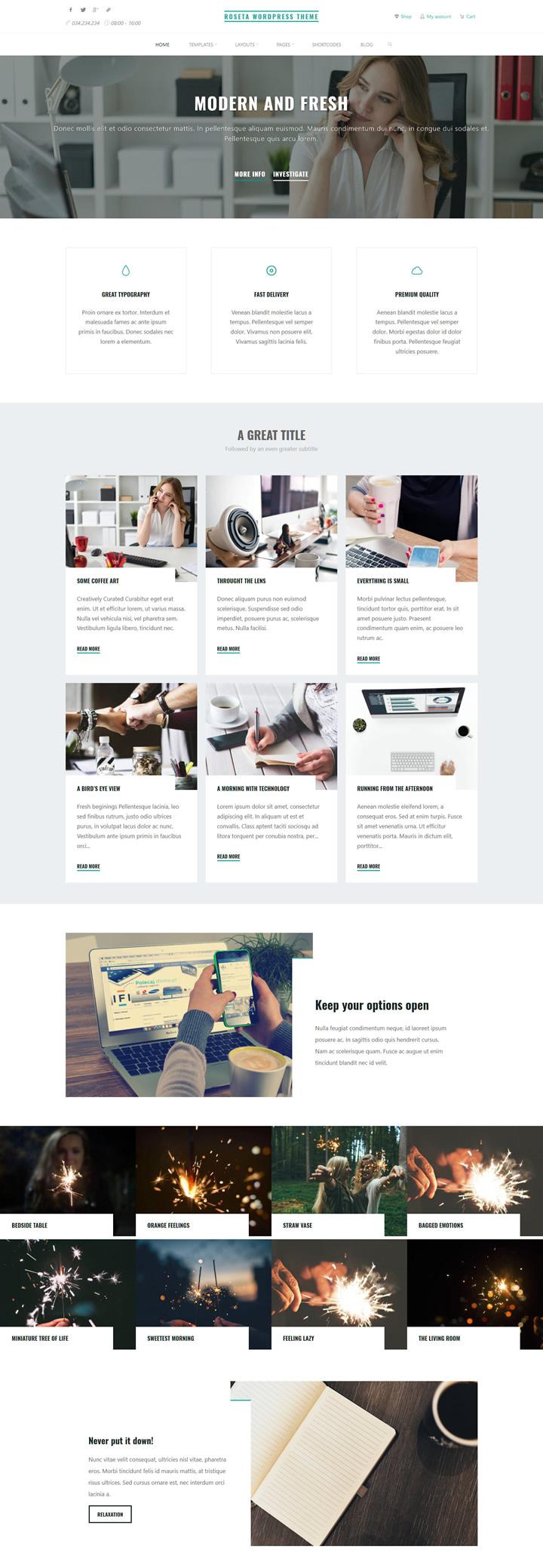 Roseta Landing Page