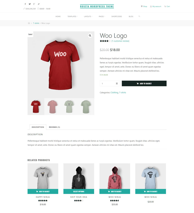 Roseta and Woocommerce