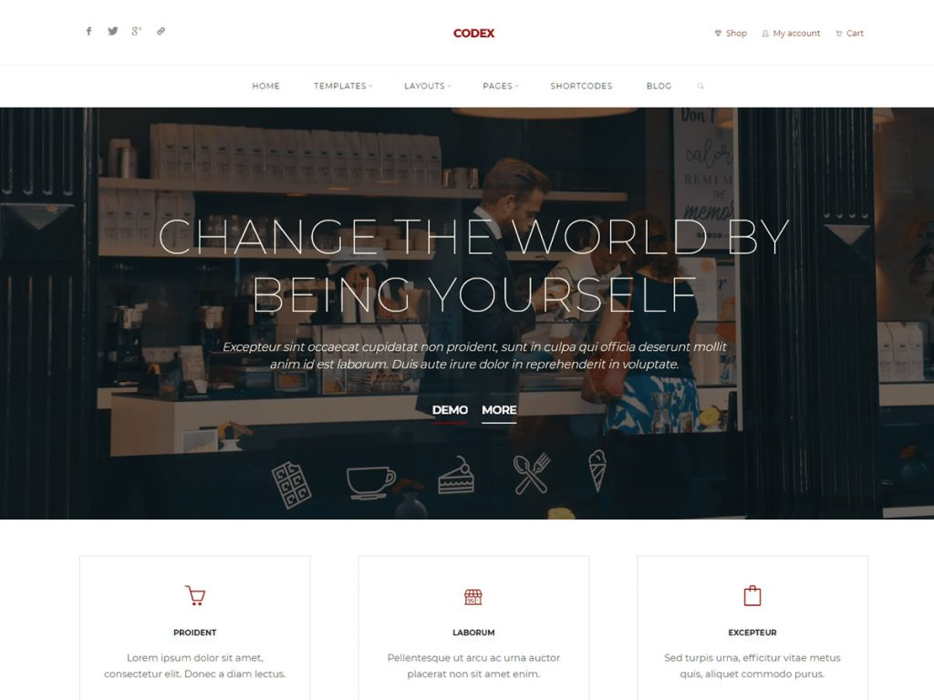 Codex WordPress Theme