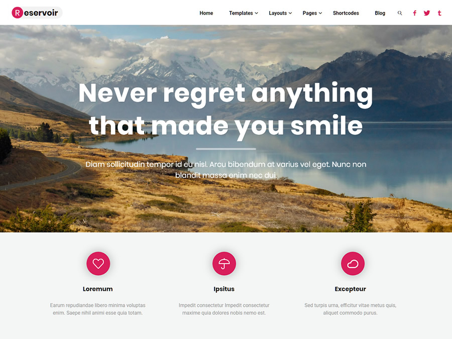 Reservoir WordPress Theme